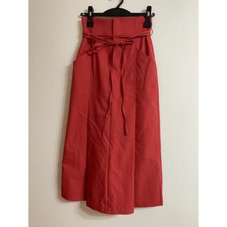 リリーブラウン(Lily Brown)のハイウエストタックスカート(ひざ丈スカート)