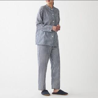 MUJI (無印良品) - 脇に縫い目のない 二重ガーゼスタンドカラーパジャマL~XL