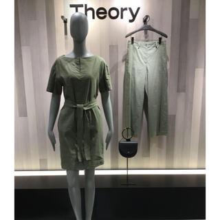 セオリー(theory)のセオリー ワンピース クランチ 麻(ひざ丈ワンピース)