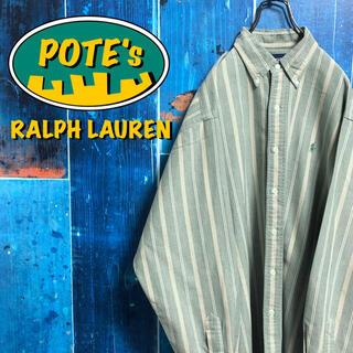 ラルフローレン(Ralph Lauren)の【ラルフローレン】ワンポイント刺繍ロゴレトロストライプシャツ 90s(シャツ)