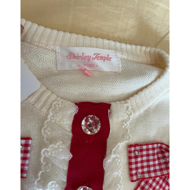 Shirley Temple(シャーリーテンプル)のシャーリーテンプル リボンカーディガン スカートセット 120 キッズ/ベビー/マタニティのキッズ服女の子用(90cm~)(カーディガン)の商品写真