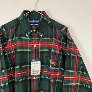 ラルフローレン(Ralph Lauren)の新品 90s POLO Ralph Lauren 長袖BDシャツ チェック(シャツ)