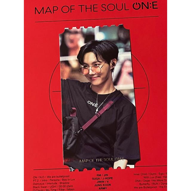 防弾少年団(BTS)(ボウダンショウネンダン)のBTS トレカ J-HOPE ホソク MAP OF THE SOUL ON:E エンタメ/ホビーのタレントグッズ(アイドルグッズ)の商品写真