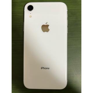 Apple - iPhone XR 128GB ホワイト バッテリー95% 使用期間半年 超美品