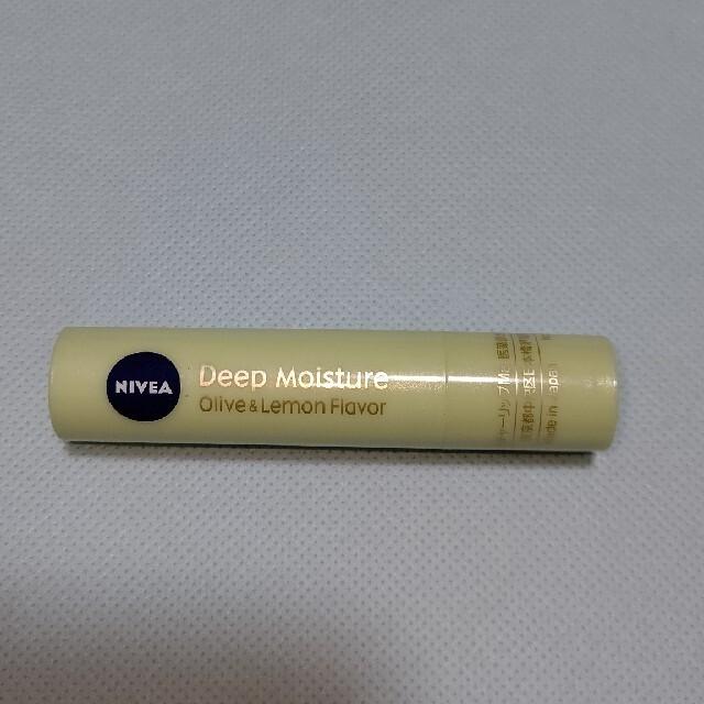 ニベア(ニベア)のニベア ディープモイスチャーリップ オリーブ&レモンの香り コスメ/美容のスキンケア/基礎化粧品(リップケア/リップクリーム)の商品写真