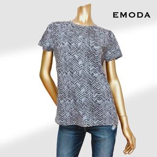 EMODA - EMODA かすれプリント Tシャツ*ジーナシス ムルーア GYDA マウジー