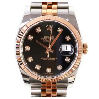 ロレックス(ROLEX)のロレックス デイトジャスト 10Pダイヤ 自動巻き 腕時計 SSxPG(腕時計(アナログ))