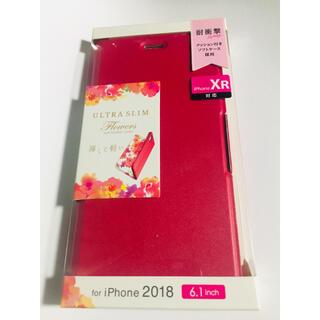 ELECOM - iPhoneXRケース手スリムソフトレザーカバー磁石付き 【ディープピンク】