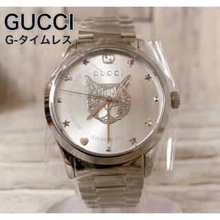 Gucci - ☆新品☆ グッチ G-タイムレス 男女両用 腕時計 キャットデザイン38mm