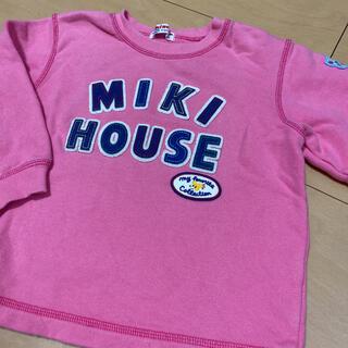 mikihouse - ミキハウス ロゴ トレーナー 90