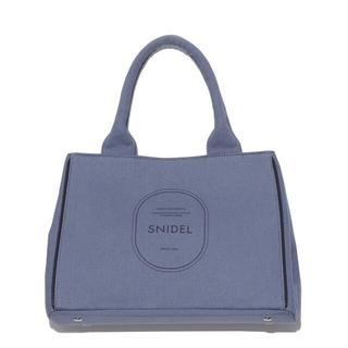 snidel - スナイデル キャンバストート ブルー 新品未使用タグ付 snidel キャンパス