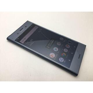 ソニー(SONY)の577 SIMフリー au XPERIA XZ1 SOV36 ブルー◆美品◆(スマートフォン本体)
