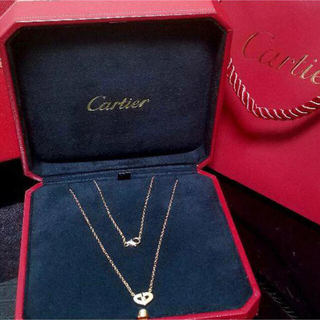 Cartier - カルティエ CartierCハートシンボルネックレス K18PG×ダイヤ