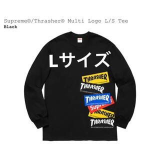 Supreme - Supreme ×Thrasher Multi Logo LS Tee Lサイズ