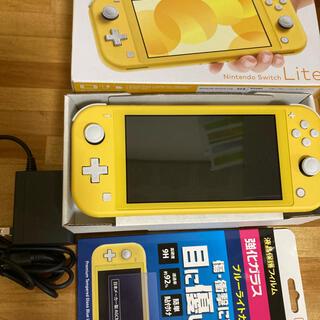 Nintendo Switch -  NINTENDO SWITCH LITE イエロー ブルーライト用ガラス付き