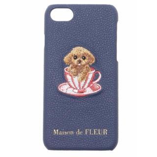 メゾンドフルール(Maison de FLEUR)のティーカッププードル柄 iPhone8 ケース(iPhoneケース)