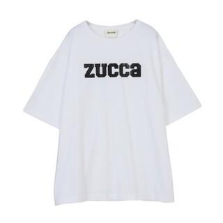 ZUCCa - ZUCCa ロゴ レザー調プリント Tシャツ