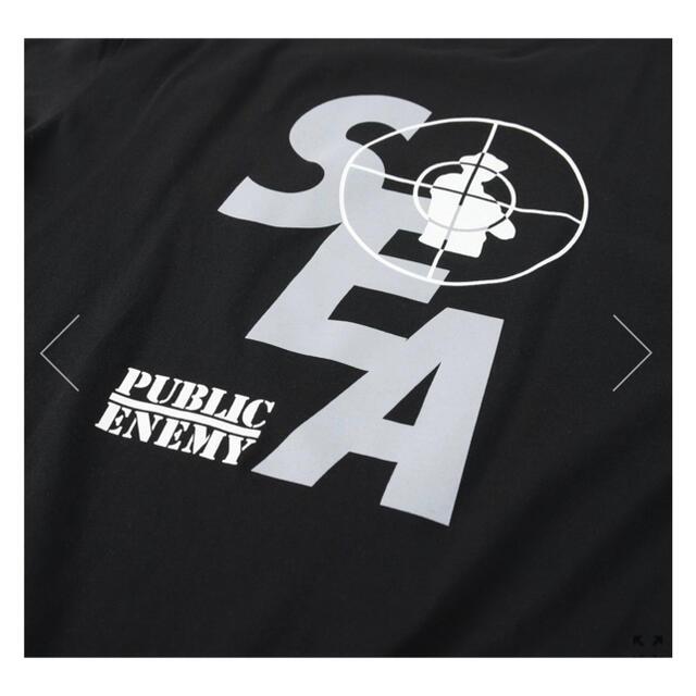 SEA(シー)のPUBLIC ENEMY WDS TEE BLACK wind and sea メンズのトップス(Tシャツ/カットソー(半袖/袖なし))の商品写真