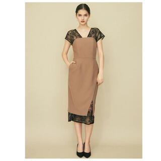ラグナムーン(LagunaMoon)のLAGUNAMOON レースレイヤードドレス(ミディアムドレス)