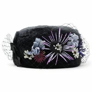 カシラ(CA4LA)のca4la バラ色の帽子 ロシアンフラワー(ニット帽/ビーニー)