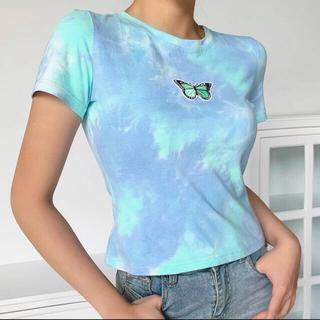 蝶々タイダイTシャツ🦋(Tシャツ(半袖/袖なし))