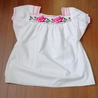 メキシコブラウス 刺繍 トップス 民族衣装(シャツ/ブラウス(半袖/袖なし))