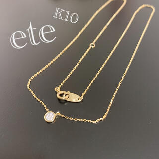 ete - ete / K10ブリリアントダイヤモンドネックレス / YG