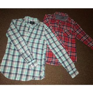アメリカンイーグル(American Eagle)のアメリカンイーグル チェック柄 メンズシャツ 秋服 2点セット まとめ売り(シャツ)