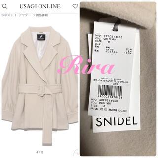 snidel - 完売色🌷新作新品🍀スナイデル スリーブボリュームショートコート