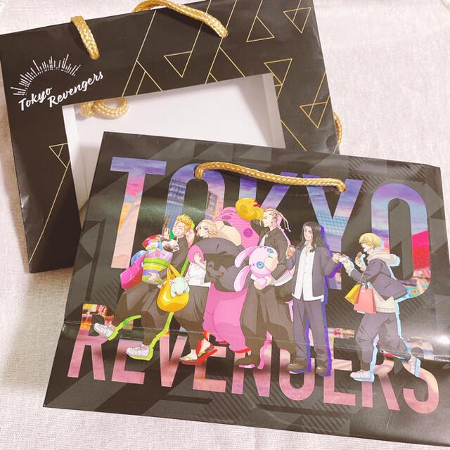 BANDAI NAMCO Entertainment(バンダイナムコエンターテインメント)の東京リベンジャーズ ナムコ ちびぐるみ ノベルティー 窓付きショッパー エンタメ/ホビーのおもちゃ/ぬいぐるみ(キャラクターグッズ)の商品写真