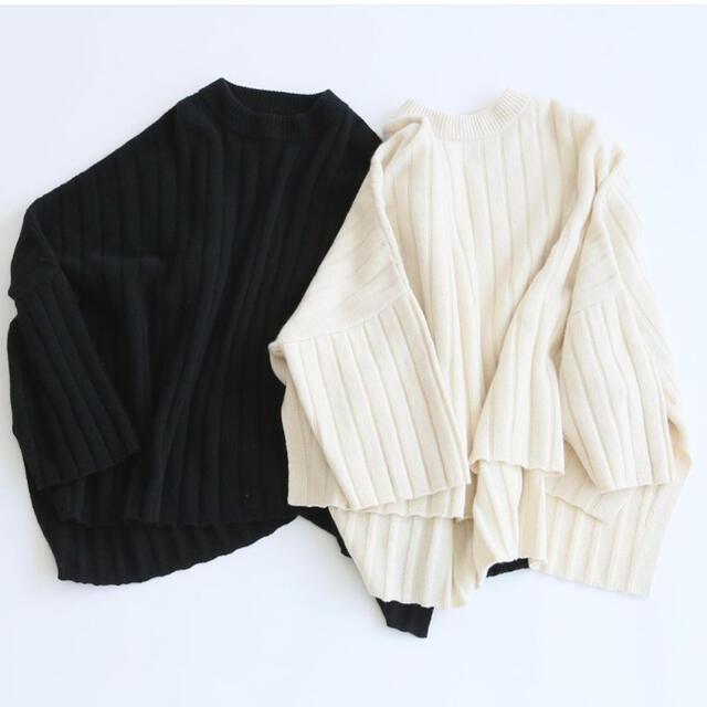 FRAMeWORK(フレームワーク)のウールカシミア オーバーサイズニット 白 レディースのトップス(ニット/セーター)の商品写真