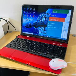 C19-オフィス付NEC赤■Win10+Office+WiFi