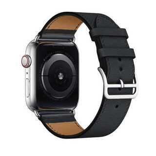 【B11】Apple Watch 本革バンド(ブラック) 38/40mm(その他)