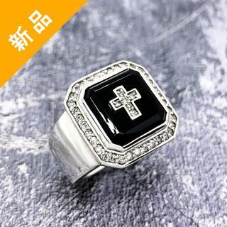 定価14.9万・新品★Justin Davis ダイヤモンド・オニキスリング(リング(指輪))
