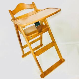 KATOJI - KATOJI カトージ ベビーチェア 木製 ハイチェア テーブル付き 折りたたみ