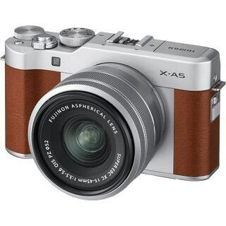 FUJIFILM ミラーレス一眼カメラ X-A5レンズキット ブラウン