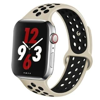 Apple Watch スポーツ バンド 38/40mm オフホワイト/ブラック(その他)