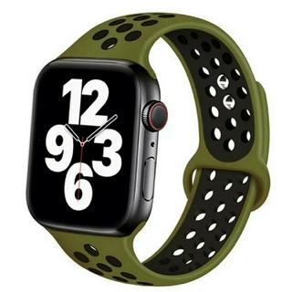 Apple Watch スポーツ バンド 42/44mm カーキ/ブラック(その他)