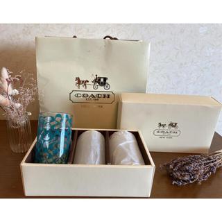 コーチ(COACH)のお値下中☆新品 非売品 COACH ノベルティ グラス 箱付き(グラス/カップ)