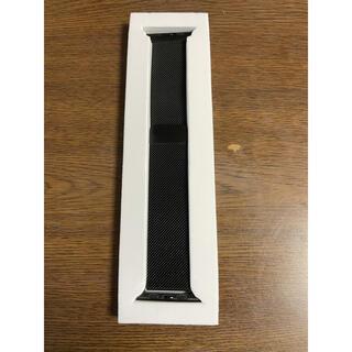 Apple Watch コンパチブル バンド 42/44mm ブラック(その他)