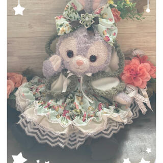 ステラルー(ステラ・ルー)のステラルー  S ペパーミント花柄6点コスチューム 双子コーデ クッキーアンにも(ぬいぐるみ)
