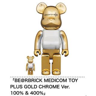 MEDICOM TOY - BE@RBRICK MEDICOM TOY PLUS GOLD CHROME