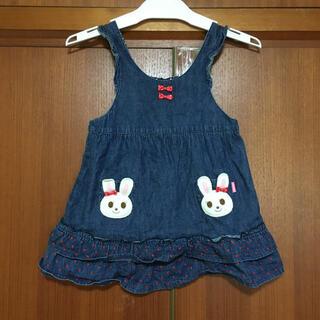 ミキハウス(mikihouse)のミキハウス★うさこ ワンピース ジャンパースカート 90サイズ(スカート)