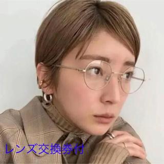 ゾフ(Zoff)の新品 Zoff REIKA YOSHIDA コラボ メガネ ゴールド メタル(サングラス/メガネ)