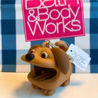 バスアンドボディーワークス(Bath & Body Works)の【新品】バスアンドボディワークス ジェル ホルダー イヌ(キーホルダー)