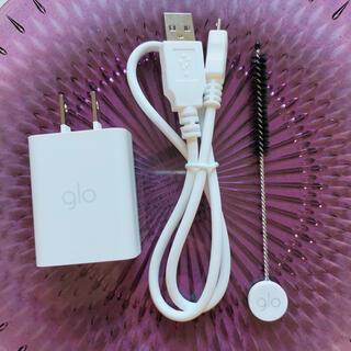 グロー(glo)の※SALE中※【新品未使用】glo 充電器 お掃除ブラシセット(タバコグッズ)