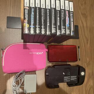 ニンテンドー3DS(ニンテンドー3DS)の任天堂3DS本体、付属品、ソフト10本セット(携帯用ゲーム機本体)