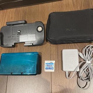 ニンテンドー3DS(ニンテンドー3DS)の任天堂3DS本体、付属品、ポケモンアルファサファイアセット(携帯用ゲーム機本体)