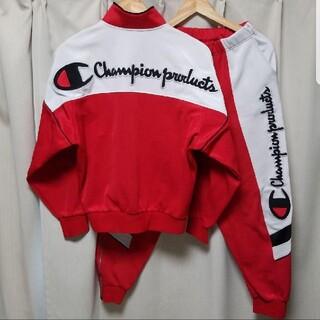 チャンピオン(Champion)の激レア! 90s ヴィンテージ チャンピオン トラックジャージ上下 ビッグロゴ(ジャージ)