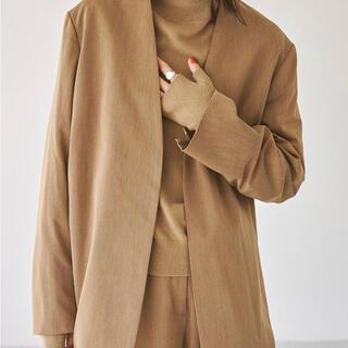 トゥデイフル(TODAYFUL)の【TODAYFUL 】Heather Collarless Jacket 38(ノーカラージャケット)